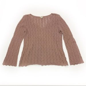 J. Jill Sweater Knit Dusty Pink Size Small